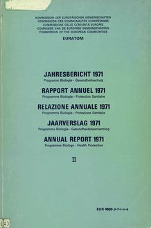 ANNUAL REPORT 1971: Programme Biology: Health Protection
