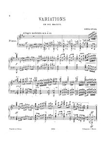 Partition complète, Variations en G major, G major, Schulz-Evler, Adolf