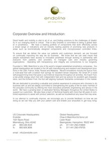 Corporate Overview and Introduction: