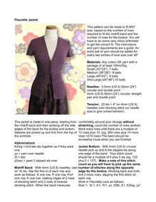 Fleurette Jacket This pattern can be made to fit ANY size, based on ...