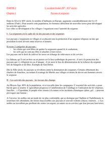 """Fiche de révisions sur le chapitre """"paysans et seigneurs, puis du chapitre """"construction et affirmation de l'Etat en France - histoire 5e"""