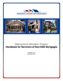 Handbook for Servicers of Non-GSE Mortgages V3.1