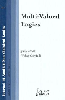 Multi-valued logics Journal of applied non-classical logics volume 9 n°1 1999