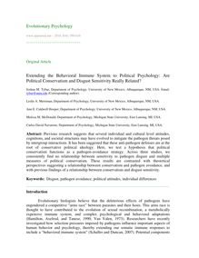 Extending the the behavioral immune system to political psychology: Are political conservatism and disgust sensitivity really related?
