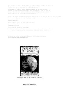 The Great Round World and What Is Going On In It, Vol. 1, No. 31, June 10, 1897 - A Weekly Magazine for Boys and Girls
