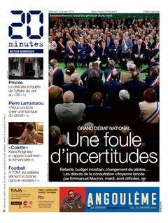 20 minutes Edition Nationale du 16-01-2019