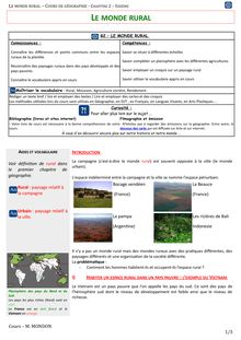Habiter le monde rural : exemple du Vietnam - géographie 6e