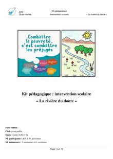 """Kit pédagogique La rivière du doute"""""""""""