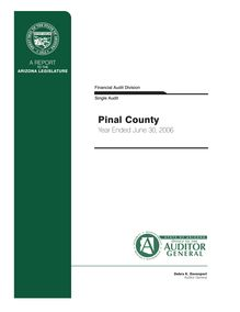 Pinal County June 30, 2006 Single Audit