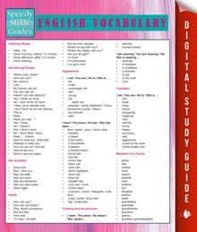 English Vocabulary (Speedy Study Guides)