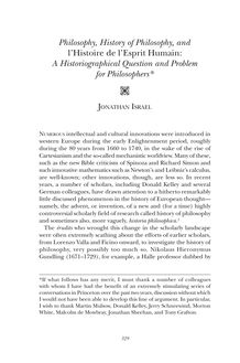 Philosophy, history of philosophy, and l