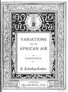 Partition complète, Variations on an African Air, Op.63, Variations on an African Air for Orchestra