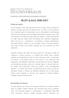 BLOY (Léon) 1846-1917 -
