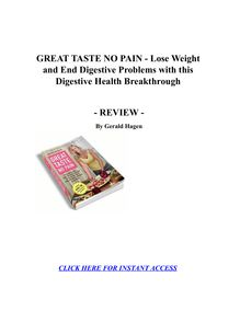 GREAT TASTE NO PAIN - Lose Weight and End Digestive Problems