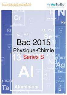 Corrigé - bac 2015 - Physique-Chimie - Bac S