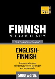 Finnish vocabulary for English speakers - 5000 words
