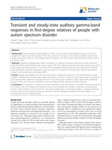 Transient and steady-state auditory gamma-band responses in first-degree relatives of people with autism spectrum disorder