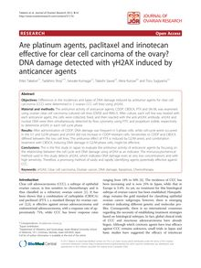 Are platinum agents, paclitaxel and irinotecan effective for clear cell carcinoma of the ovary? DNA damage detected with γH2AX induced by anticancer agents