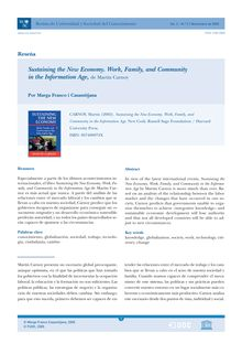 Sustaining the New Economy. Work, Family, and Community in the Information Age, de Martin Carnoy (Sustaining the New Economy. Work, Family, and Community in the Information Age, by Martin Carnoy) (Sustaining the New Economy. Work, Family, and Community in the Information Age, de Martin Carnoy)