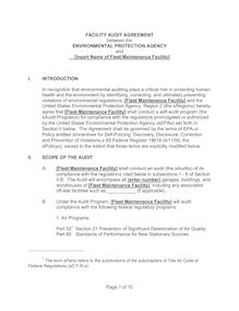 FACILITY AUDIT AGREEMENT