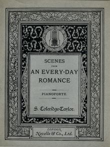 Partition Color Covers, Scenes from an Every-Day Romance, Op.41