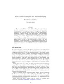 Semi classical analysis and passive imaging