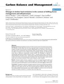 Changes in timber haul emissions in the context of shifting forest management and infrastructure