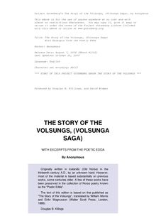 The Story of the Volsungs, (Volsunga Saga) - With Excerpts from the Poetic Edda