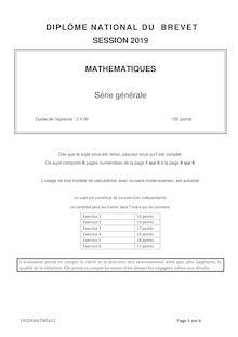 Brevet mathématiques série générale