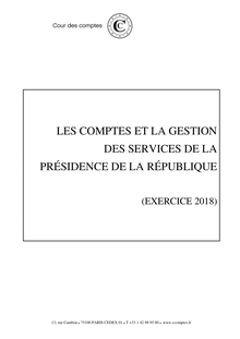 Rapport finances Elysée