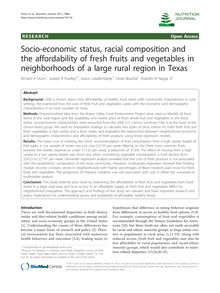Socio-economic status, racial composition and the affordability of fresh fruits and vegetables in neighborhoods of a large rural region in Texas