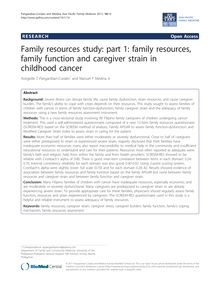 Family resources study: part 1: family resources, family function and caregiver strain in childhood cancer