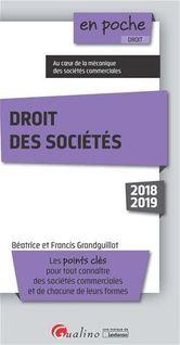 En poche - Droit des sociétés - 10e édition - Francis Grandguillot, Béatrice Grandguillot