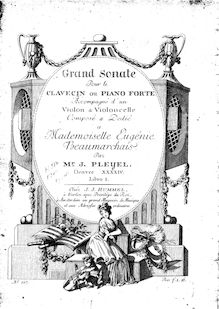 Partition parties complètes, 3 Trio sonates, 3 Trios for Keyboard, Violin and Cello ; 3 Grand Sonatas for piano with accompaniment of violin and cello, Op.31 par Ignaz Pleyel