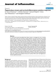 Papanicolaou smears and cervical inflammatory cytokine responses