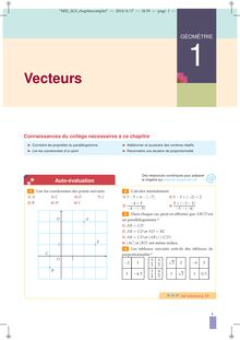 Géométrie/Vecteurs