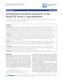 Amyloid-beta transporter expression at the blood-CSF barrier is age-dependent