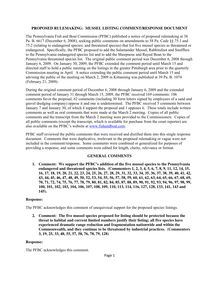 Mussel Listing Comment Response Document  Final