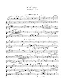 Partition clarinette 1, 2 (en B♭), Symphony No.1, Op.7, G minor