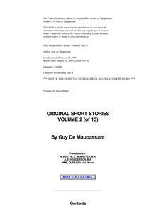 Original Short Stories — Volume 02
