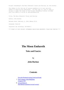 The Moon Endureth: Tales and Fancies