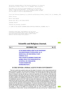 The Christian Foundation, Or, Scientific and Religious Journal, Volume I, No. 12, December, 1880