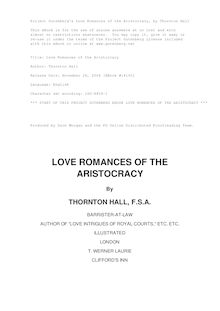 Love Romances of the Aristocracy