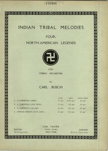 Partition couverture couleur, Indian Tribal Melodies, Four North American Legends for String Orchestra