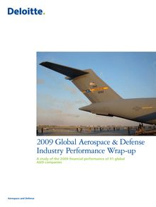 2009 Global Aerospace & Defense industry performance wrap-up