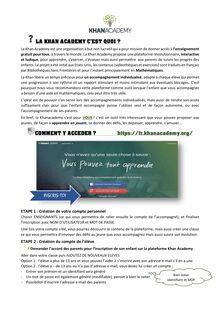 Brief sur la Khan Academy