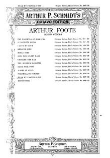 Partition Vocal Score, Hear My Prayer, O God, Foote, Arthur