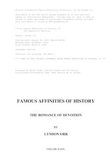 Famous Affinities of History — Volume 2 - The Romance of Devotion