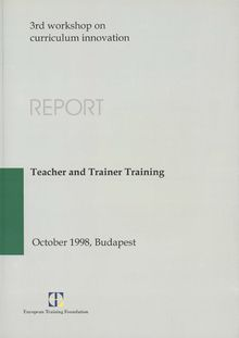 Teacher and trainer training