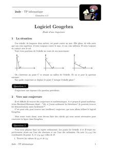 TP informatique, Probabilités TP n°7 : étude d'une trajectoire